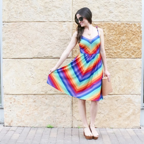 Rainbow-dress-modcloth-seychelles-platform-wedges