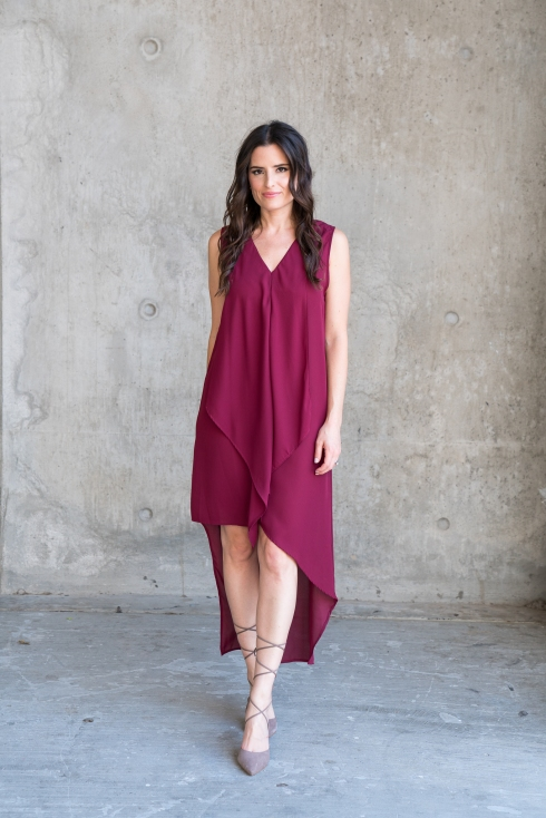 burgundy-shift-hi-lo-dress
