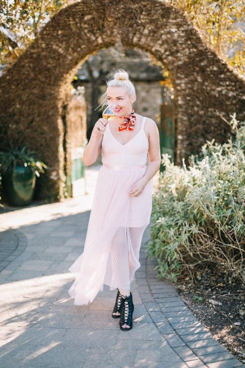 free-people-pink-pleated-dress-vintage-scarf