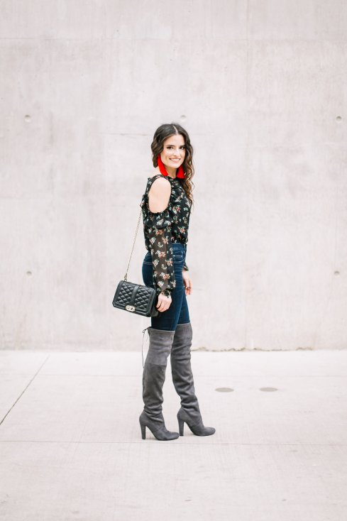 current-aircold-shoulder-ruffle-top-steve-madden-otk-boots
