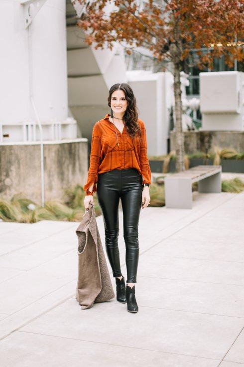bella-dahl-orange-button-up-leather-leggings