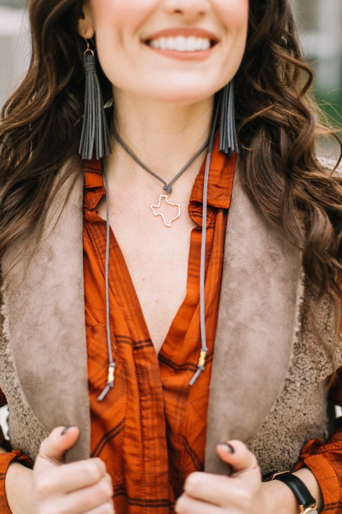leather-tassel-earrings-texas-leather-choker