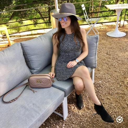 bcbgeneration-dress-black-boots-gucci-marmont-bag-round-ray-ban-sunglasses