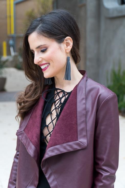 leather-tassel-earrings-black-lace-up-top